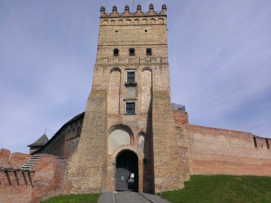 Lutsk, Ukraine: Вид на въездную башню