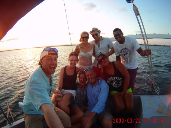 Placencia, Belize: Us with the staff!