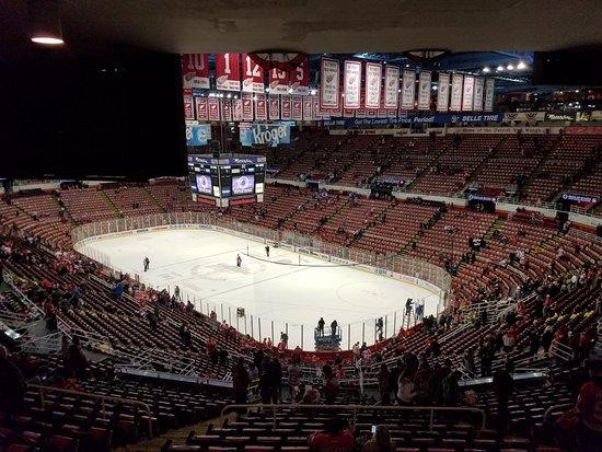 Joe Louis Arena: Arquibancada após o jogo