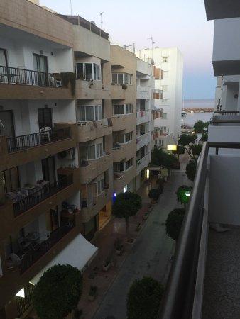 Apartamentos Bahia: Our backstreet view, almost see the marina