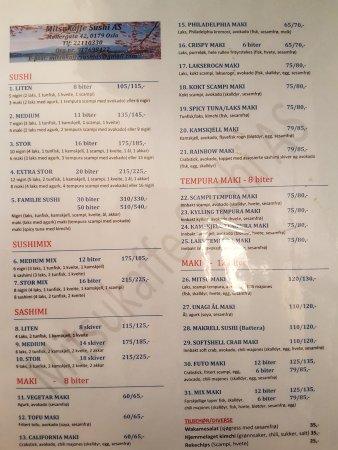 mitsu cafe: The menu
