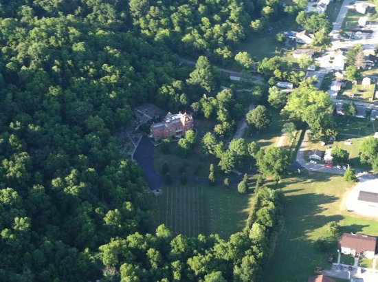 Vevay, IN: Built in 1874, the Schenck Mansion sits in the center of 11 acres of park-like grounds.