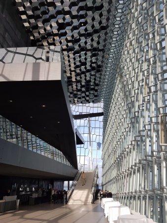 Harpa Reykjavik Concert Hall and Conference Centre: with live violin concert....
