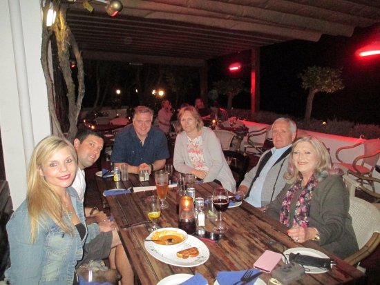 Pastis: Dinner with brother and sister in law from the UK.