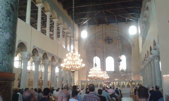 Church of Panagia Acheiropoietos: Panagia Achiropiitos during Sunday's Mass