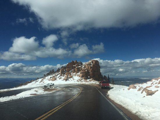 Pikes Peak: Interesting outcrop of rock