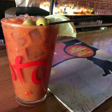 Sto's Bar & Restaurant: $5 Bloody Mary which was worth it. Buyers beware they are spicy! Will return since cheap drinks