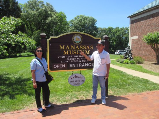 The Manassas Museum: Sign next to the entrance