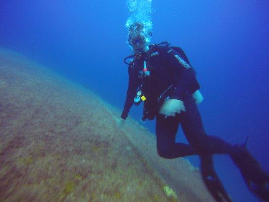 Kralendijk, Bonaire: Diving the Hilma Hooker, a sunken freight ship.