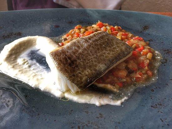 Llanars, Ισπανία: bacalla sobre llit de samfaina i pil pil