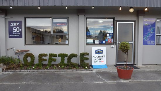 Ashburton, New Zealand: Motel Reception