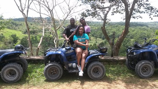 Wilderness ATV Tours : Us at he top.