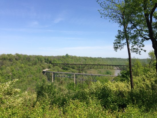 Lawrenceburg, KY: View of the Kentucky River from the Wild Turkey visitor center