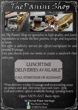 Wantage, UK: Lunchtime deliveries