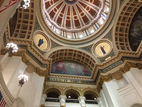 Pennsylvania State Capitol: Main Entrance Ceiling