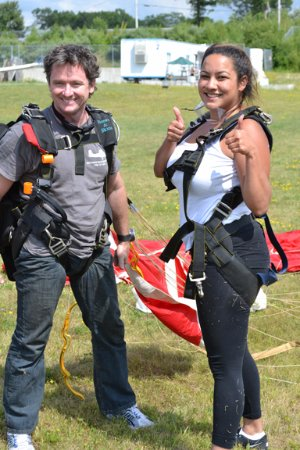 Smithfield, RI: Just after a great Skydive