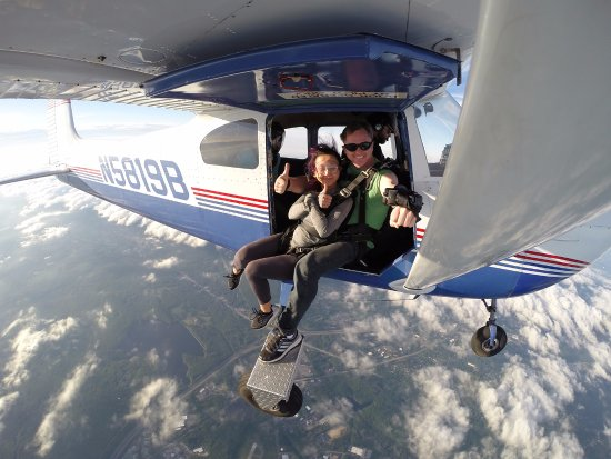 Smithfield, RI: 10,000 feet above Boston Skydive Center