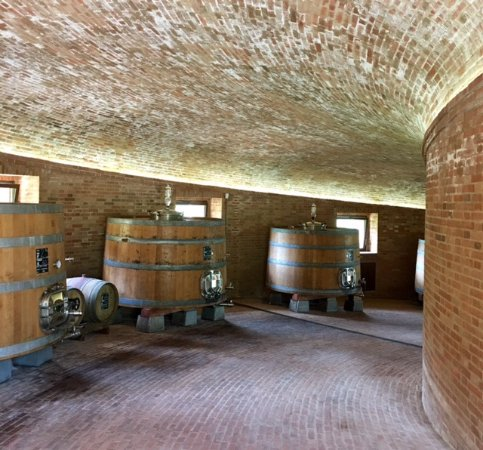 Montalcino, Italien: Inside the cellar