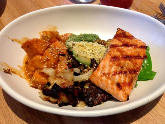 True Food Kitchen Bowls ancient grains bowl with steelhead - picture of true food kitchen