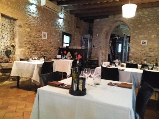 Sarria de Ter, Spanyol: Interior restaurante