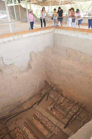 Sipan, Peru: noção de tamanho da tumba