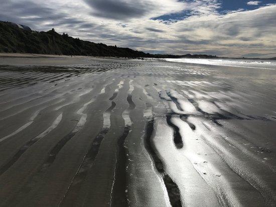 Moeraki, Neuseeland: Interesting sand and sea formation along the walk
