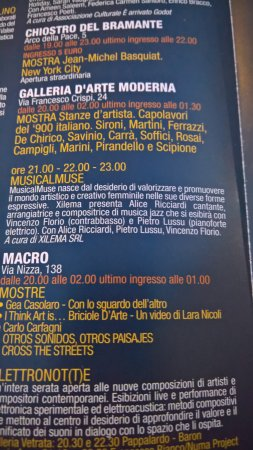 Galleria d'Arte Moderna di Roma Capitale : Museo, Programma