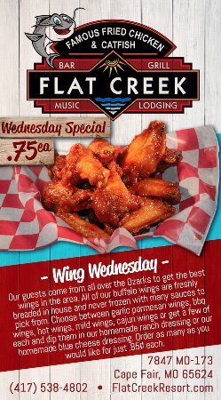 Cape Fair, MO: Wing Wednesday, enjoy $0.75 Wings All-Day, from 11AM - 10PM
