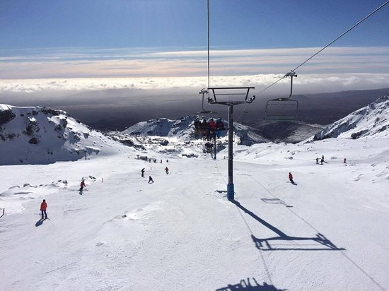 Whakapapa Ski Area - Mt Ruapehu: Views from the Waterfall Express