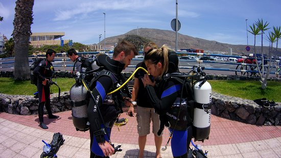 Arona, Spanje: PADI Open Water scuba diving course