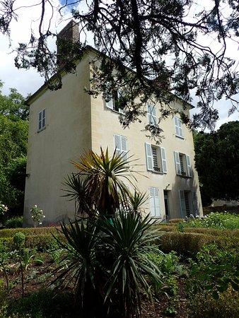 Auvers-sur-Oise, Francia: 庭から見る家