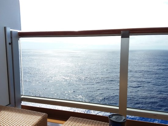 "Pacífico Sur: This was my ""office"" view on April 24, 2017 as we sailed on the MS Noordam from HNL to YVR."