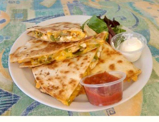 Seahorse Grill: His chicken quesadillas are loaded!