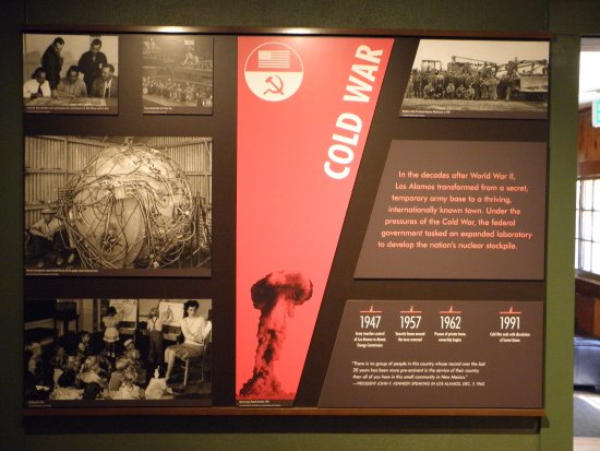 Los Alamos, Nouveau-Mexique : Cold War display....