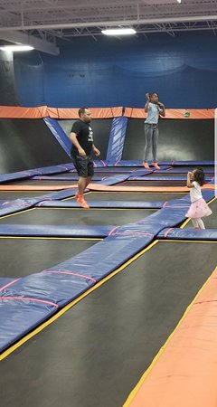 Maple Shade, NJ: Jumping at skyzone - only the kiddies, we dont know the guy