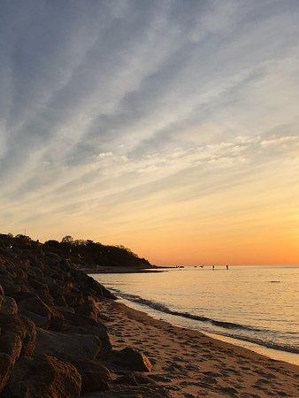 Brewster, MA: Breakwater Beach at sunset