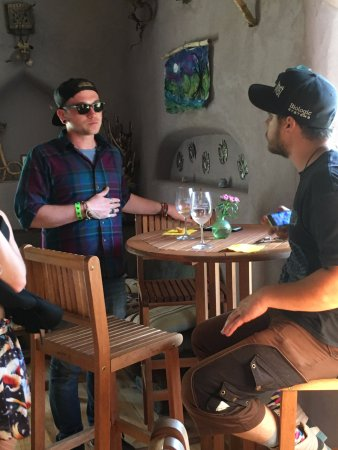 Ashland, OR: Conversation and wine.