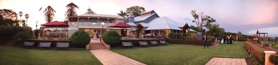 Panoramic of Flaxton Gardens Wedding and Events venue and Restaurant.