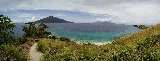 Thresher Shark Divers: the maripipi volcano from the view point on sambawan island