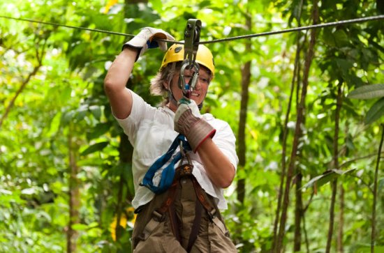 Zipline Canopy Eco-Adventure from San...
