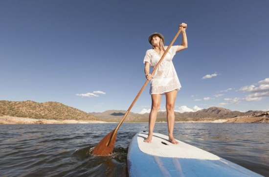 Stand-Up Paddle Board auf den...