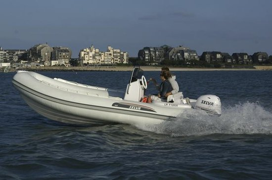 Rent a rigid-inflatable boat for up to 8 people in La Rochelle...