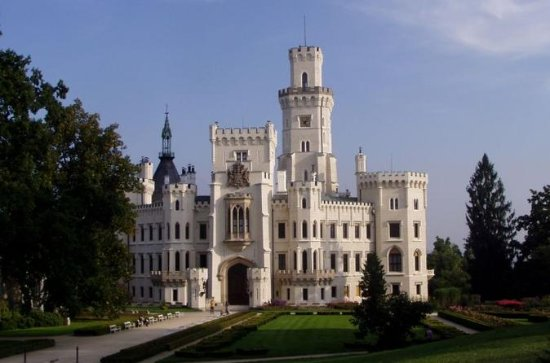 Hluboka Castle and Holasovice and...