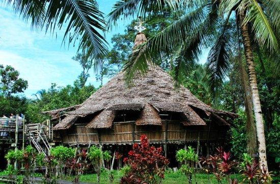Sarawak Cultural Village from Kuching...