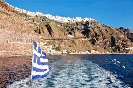 Santorini Volcano and Palea Kameni Hot Springs Tour from Fira