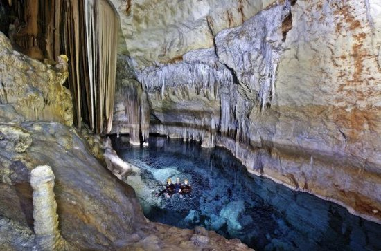 Swimming and Caving in Cova des Coloms