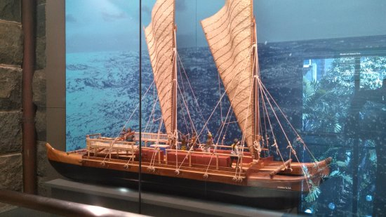 Bishop Museum: ancient hawaiian catamaran
