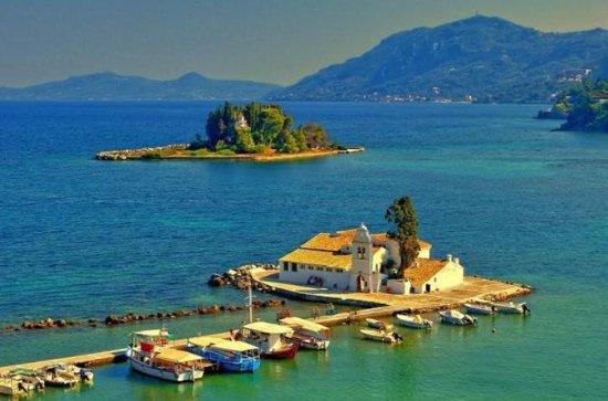 Tour privato: Achilleon, Kanoni e la