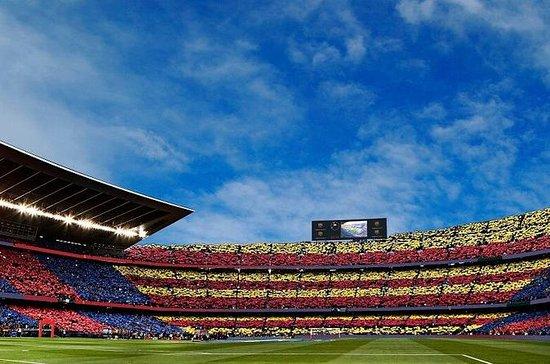 Partido de fútbol del FC Barcelona en el Camp Nou