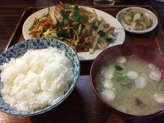 Honjo, Japón: 野菜炒め定食